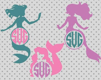 Mermaid monogram svg, Mermaid svg, Mermaid cricut, Ariel svg, Ariel cricut, Monogram svg, Monogram cricut, Mermaid tail svg, Tail svg