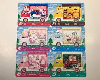 Animal Crossing Sanrio x Hello Kitty Amiibo Cards Rilla Chelsea Marty Toby Chai Etoile English Fanmade! New Leaf