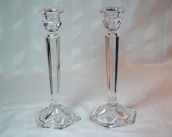 Pair of Vintage Leaded Shannon Crystal Candle Stick Holders - Designs of  Ireland