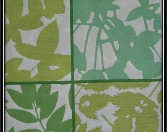 light green foliage paper towel