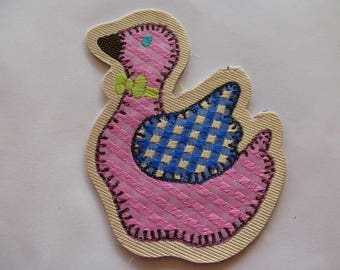 Applique badge patch 7502 2 goose bow Green