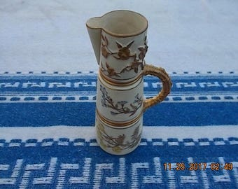 Royal Worcester Pitcher Patent Metallic Rd #17049 Model 1047 Date 1884