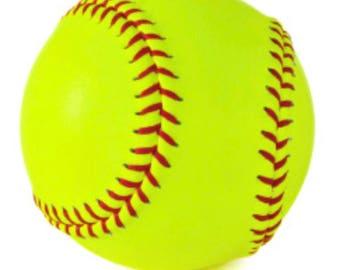 Shelly softball earrings