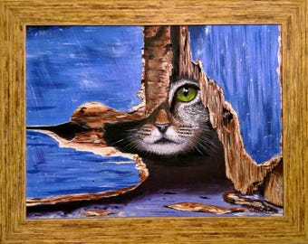 Observer acrylic art and collecting cats dogs paintings