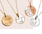 Silver Necklace Actual HandWriting Jewelry Personalized jewelry Memorial Jewelry HandWriting Custom hand writing Signature necklace mom gift