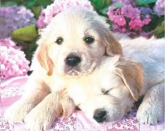 2 puppies (236) paper napkins
