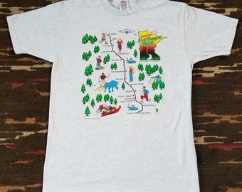 1995 Vintage Jerzees Minnesota Paul Bunyan Trail T-shirt Large
