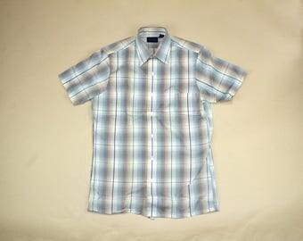 Vintage Towncraft Mens Plaid Shirt.  Sz: S
