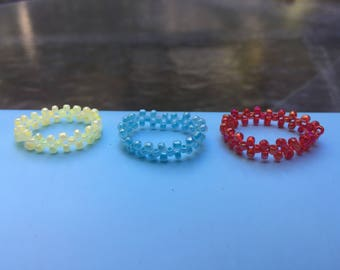 Stackable Checkered Bands (Customizable Colors)