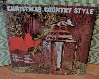 Christmas Country Style LP Record-Johnny Cash-Tammy Wynette-Jimmy Dean-Marty Robbins