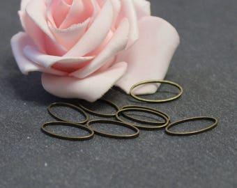 50 oval 16 x 9 mm COB57 brass closed rings