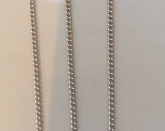 Brass Twisted Chains Curb Chains, Come On Reel, Oval, Platinum, 3x2x0.6mm, Nickel Free