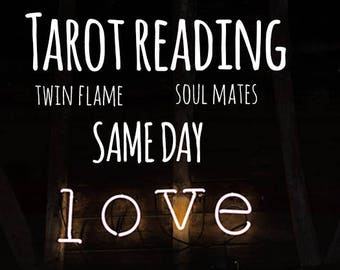 Same Day Tarot Love Reading, Relationship & Love Psychic Reading, 1 Question,  reading by email, Love Advice, Twin Flame, Soul Mates