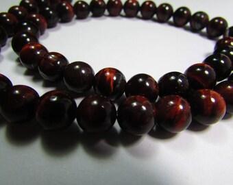 Set of 5 8 mm Tiger eye beads