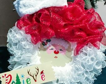 Santa head wreath