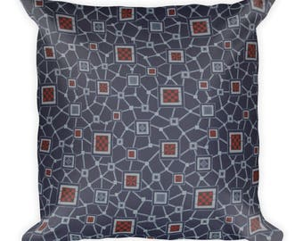 Nabulungi African Inspired Wax Print Square Pillow