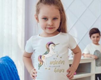 Girls Unicorn Shirt, Unicorn TShirt, Girls Unicorn TShirt, Unicorn T-Shirt, Unicorn Tee, Unicorn T Shirt, Unicorn Top, Unicorn Gift, Unicorn