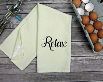 Kitchen Dish Towel - Tea Towel - Relax