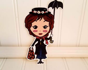 Perfect in every way!!! Homemade Vinyl Kawaii Mary Poppins Inspired Sticker