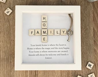 Family Home Quote Box Frame