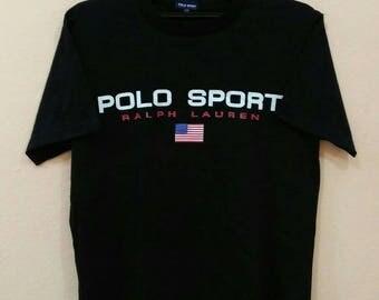 POLO RALPH LAUREN T-shirt spellout big logo black colour