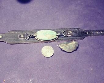 Leather buckle style bracelet