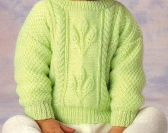 Baby Sweater, Knitting Pattern, Instant Download.