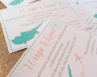 postcard wedding invitation - Postcard Wedding Invitations