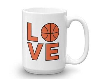 Love Basketball Mug for a Basketball Player