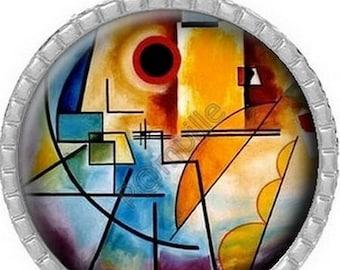 Cabochon pendant - Kandinsky canvas (234)