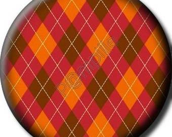 Cabochon resin 25 mm - round diamond - (711) stick