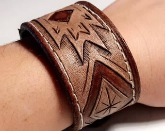 Handmade leather cuff Bracelet!