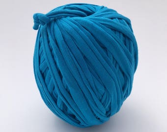 Tshirt Yarn | Cotton Yarn | Zpagetti Yarn | Trapillo | Jersey Yarn | Blue