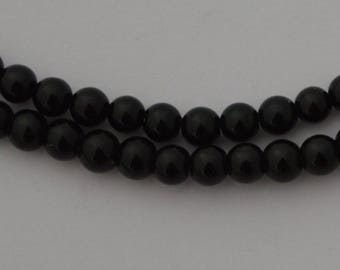 4 beads jade 10 mm black - Ref: PJ