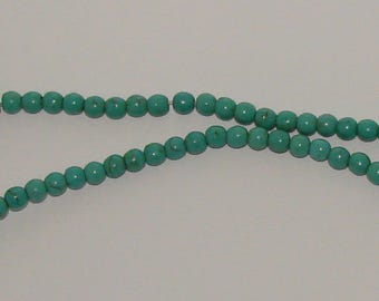 20 6 mm turquoise howlite beads