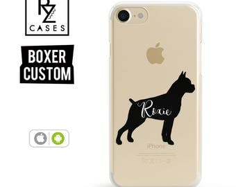 Dog Phone Case, Custom Pet Name Phone Case, Boxer Case, iPhone 7, Animal Phone Case, Dog Lover, Gift for Her, iPhone 7 Plus, iPhone 6S Case