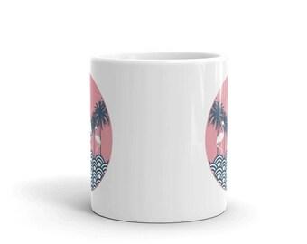 Flamingos Neon Deco Mug
