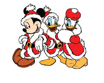 Mickey Donald Daisy christmas SVG File