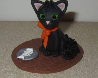Polymer Clay Black Cat