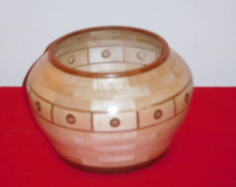 Maple and Cherry Segmented Bowl