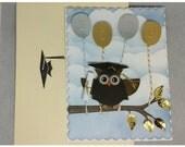 Customizable Owl Graduation Card