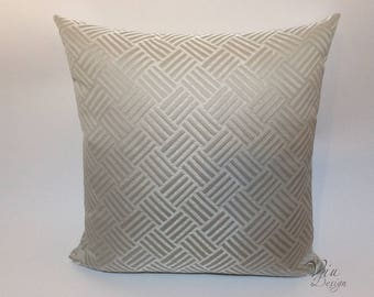 Stripes jacquard pillow, modern and minimalist