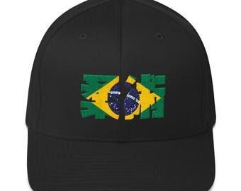 Jiu Jitsu BJJ De Brazil Flex Fit Structured Twill Cap