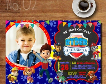 Paw Patrol Boy Invitation / Paw Patrol Invitation / Paw Patrol Birthday Party / Paw Patrol Party Invitations / Paw Patrol Invites With Photo