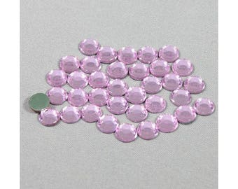 Fusible rhinestone pink 4mm