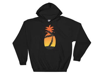 Pineapple Sunset Palm Hoodie