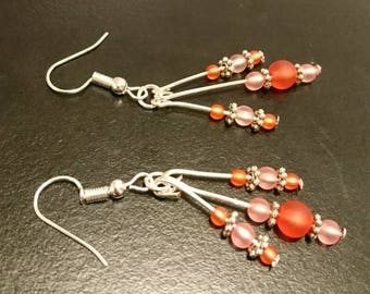 Red and Pink Earrings