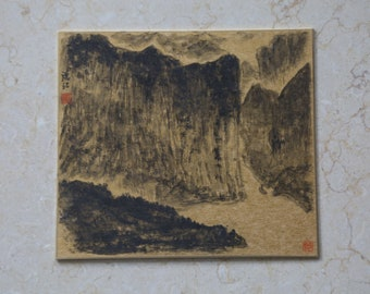 Chinese Ink Painting - The Dark Mountain