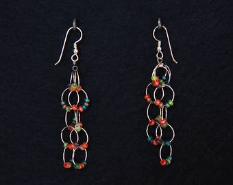 Dangling Bangle Earrings