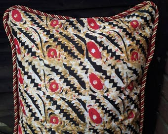 African Ankara fabric cushion cover 50x50cm